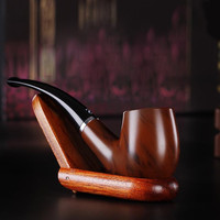 New Durable Wooden Enchase Smoking Pipe Tobacco Cigarettes Cigar Pipes Gift ZH64