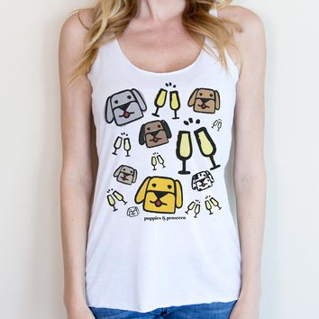Puppies & Prosecco Tank
