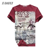 E-BAIHUI  Men's Cotton T-shirt