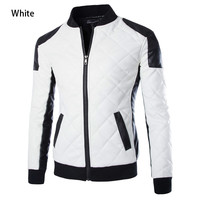 Motorcycle Zipper Leather Jacket