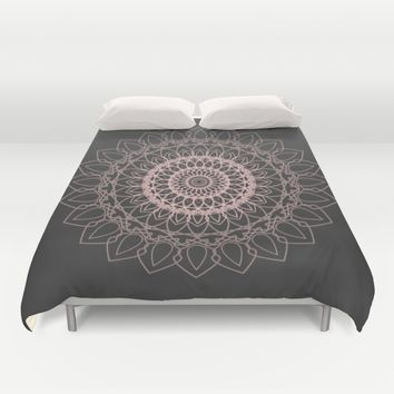 mandala rose quartz color of the year Duvet Cover by Xiari | Society6