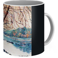 Fall On The New River Coffee Mug for Sale by Kendall Kessler