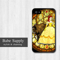 Beauty And The Beast Princess iPhone 4 case, Disney iPhone 4 4s 4g hard case, Princess cover skin case for iphone 4/4s/4g