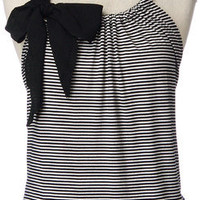 Sleeveless Stripe Front with Bow