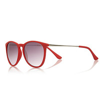 River Island Womens Red retro sunglasses