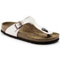 Birkenstock Classic, Gizeh, Birko-Flor Graceful, Narrow Fit, Pearl White