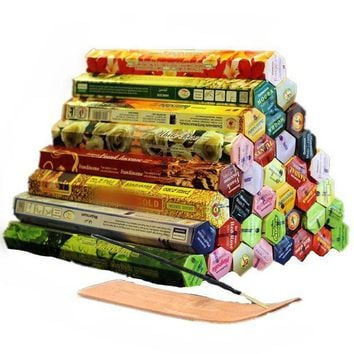 ac PEAPO2Q 3/4/6/9/12Boxes tibetan Incense Stick With Plate Indian Incense Premium Multiple Flavor Mixed Package sandalwood incense S $