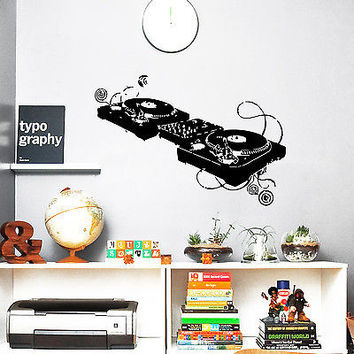 Wall Decals Music DJ mixer Night Club Vinyl Sticker Decor O324