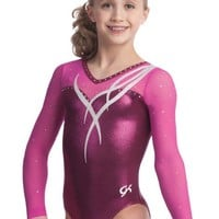 Cascading Ribbon Gymnastics Leotard from GK Elite