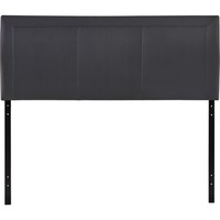 Isabella Queen Headboard Black Padded Leatherette