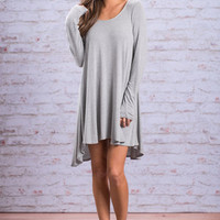 Flawless Flow Tunic, Heather Gray