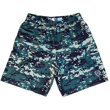 Digital Army Camo Lacrosse Shorts