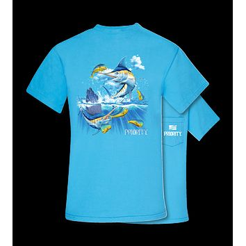 Southern Couture Salt Water Fish Fishing Pocket Unisex Bright T Shirt