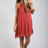 cross my heart tank dress