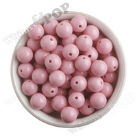 PASTEL PINK 16mm Solid Gumball Beads