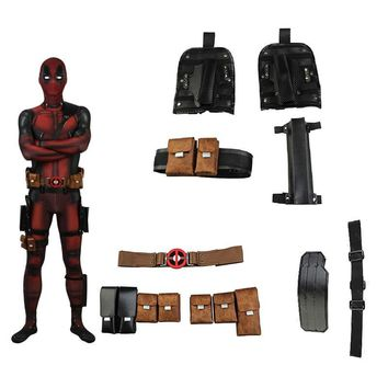 Deadpool Cosplay Accessories Wade Wilson Cosplay Props Movie Superhero Belt Straps Holsters Bags Halloween Costume Accessories