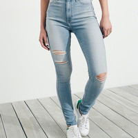 Girls Advanced Stretch Ultra High-Rise Jean Leggings | Girls Bottoms | HollisterCo.com