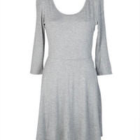 3/4 Sleeve Jersey Dress