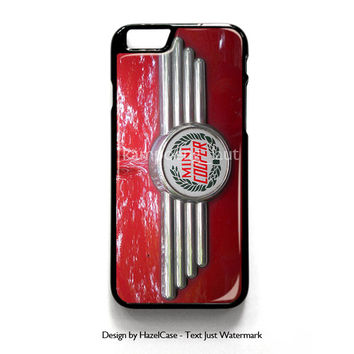 Mini Cooper Car Logo for iPhone 4 4S 5 5S 5C 6 6 Plus , iPod Touch 4 5  , Samsung Galaxy S3 S4 S5 Note 3 Note 4 , and HTC One X M7 M8 Case Cover