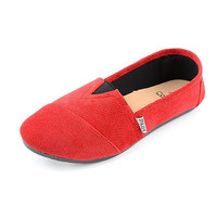 Corkys Sues Red Corduroy Slip-On Shoes