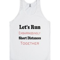 Let's Run Together-Unisex White Tank