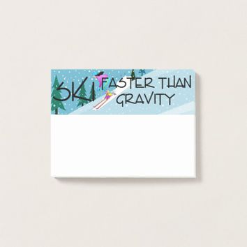 TOP Ski Faster Post-it Notes