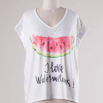 I Love Watermelons Tee