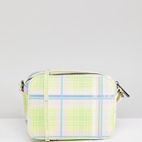 ASOS DESIGN Summer Check Camera Bag at asos.com