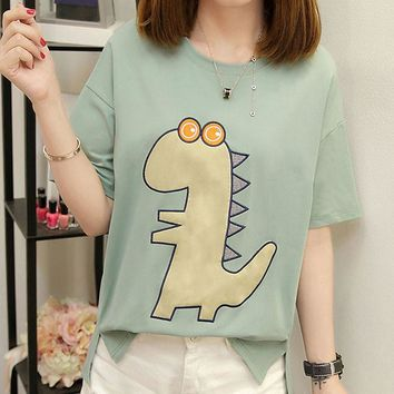 Summer shirt women chic kawaii student tops