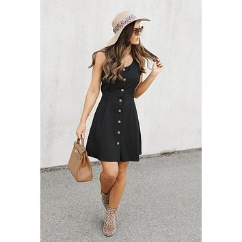 VIP Invite Button Up Dress (Black)
