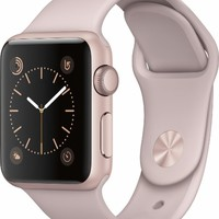 Apple - Apple Watch Series 1 38mm Rose Gold Aluminum Case Pink Sand Sport Band - Rose Gold Aluminum