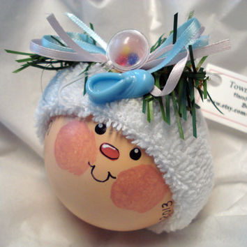 Birth Announcement Baby Christmas Ornament Personalized