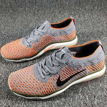 NIKE AIR ZOOM FEARLESS FLYKNIT Comfortable Fashion Training Sneakers F-CSXY grey+orange