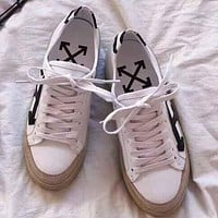 Off White Women Fashion Simple Casual  Shoes