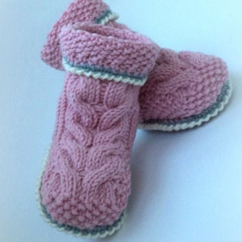 Crocheted booties baby boots knitted baby Uggs Baby Baby Boy Baby Girl Booty knit baby newborn Baby Gift Knitting Infants