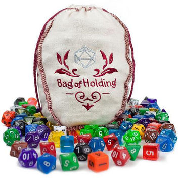 Bag of Holding: 140 Polyhedral Dice in 20 Complete Sets