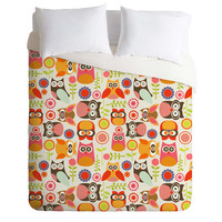 Valentina Ramos Cute Little Owls Duvet Cover