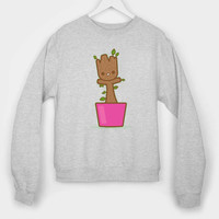 baby groot dancing long sleeves for mens and womens by usa