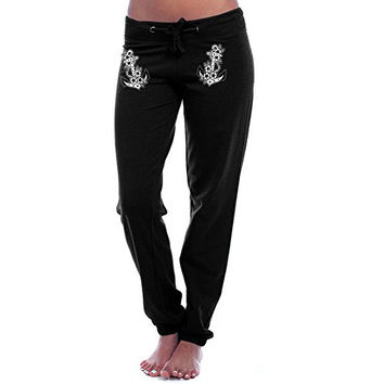 Rat Baby Apparel Floral Anchor Sweatpants Tattooed Inspired