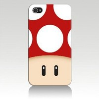 Super Mario Mushroom Hard Case Cover Skin for Iphone 4 4s Iphone4 At&t Sprint Verizon Retail Packing