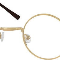Gold Metal Alloy Full-Rim Frame with Spring Hinge #4500 | Zenni Optical Eyeglasses