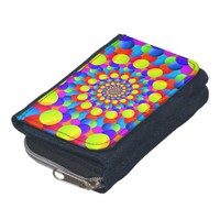 Hippie Art Rainbow Spiral Fractal Wallet