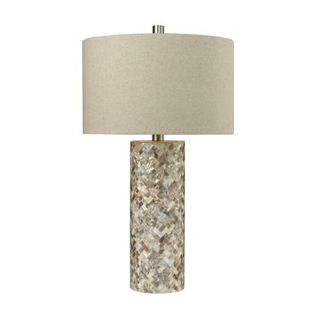 D2608 Trump Home Herringbone Table Lamp In Natural Mother of Pearl - Free Shipping!