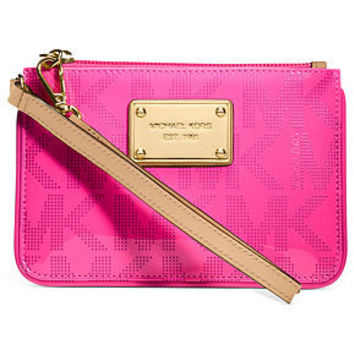 MICHAEL Michael Kors Handbag, Jet Set Small Patent Signature Wristlet - Handbags & Accessories - Macy's