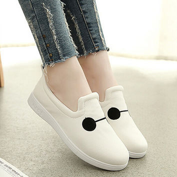 Womens Casual Canvas Shoes Embroidery Sneakers