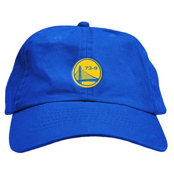 Warriors 73 Win Record Dad Hat
