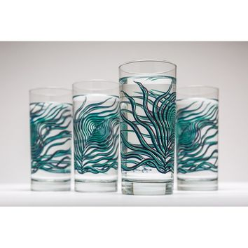 Peacock Feather Glasses