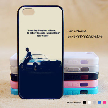 Paul Walker Phone Case For iPhone 6 Plus For iPhone 6 For iPhone 5/5S For iPhone 4/4S For iPhone 5C