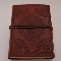 Special Leather Journal - Sketchbook - Blank Journal - Leather Diary Handmade Paper with Flower Petals