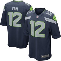 Nike Seattle Seahawks 12th Fan Game Jersey - College Navy